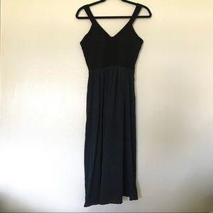 Rebecca Taylor Black & Blue Sheath Evening Dress